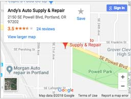 Andy's Auto Supply & Repair on Google Maps